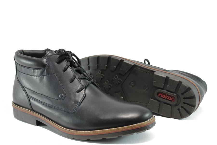 Мъжки боти - естествена кожа - черни - EO-9574