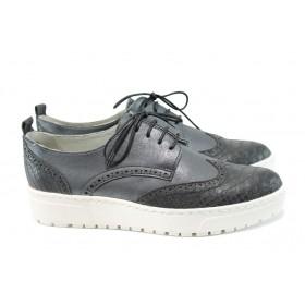 Равни дамски обувки - висококачествена еко-кожа - черни - EO-9799