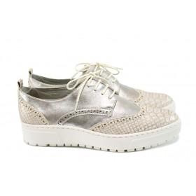 Равни дамски обувки - висококачествена еко-кожа - жълти - EO-9800