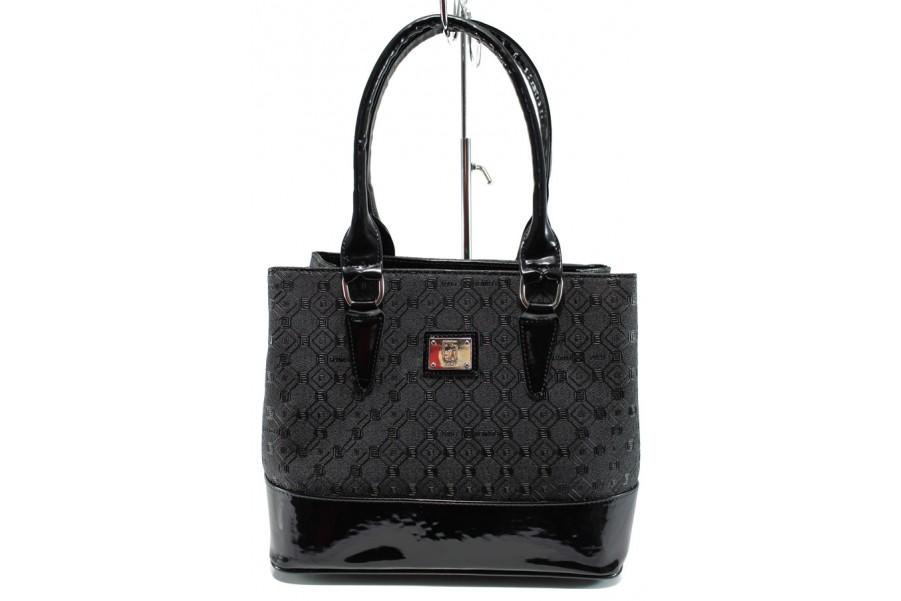 Дамска чанта - висококачествена еко-кожа - черни - EO-9974