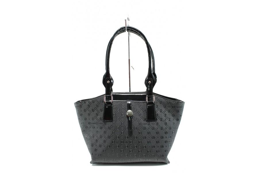 Дамска чанта - висококачествена еко-кожа - черни - EO-9984