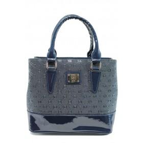 Дамска чанта - висококачествена еко-кожа - сини - EO-9976