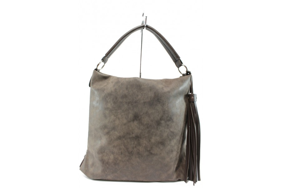 Дамска чанта - висококачествена еко-кожа - кафяви - EO-9980