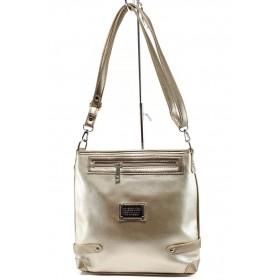 Дамска чанта - висококачествена еко-кожа - жълти - EO-9987