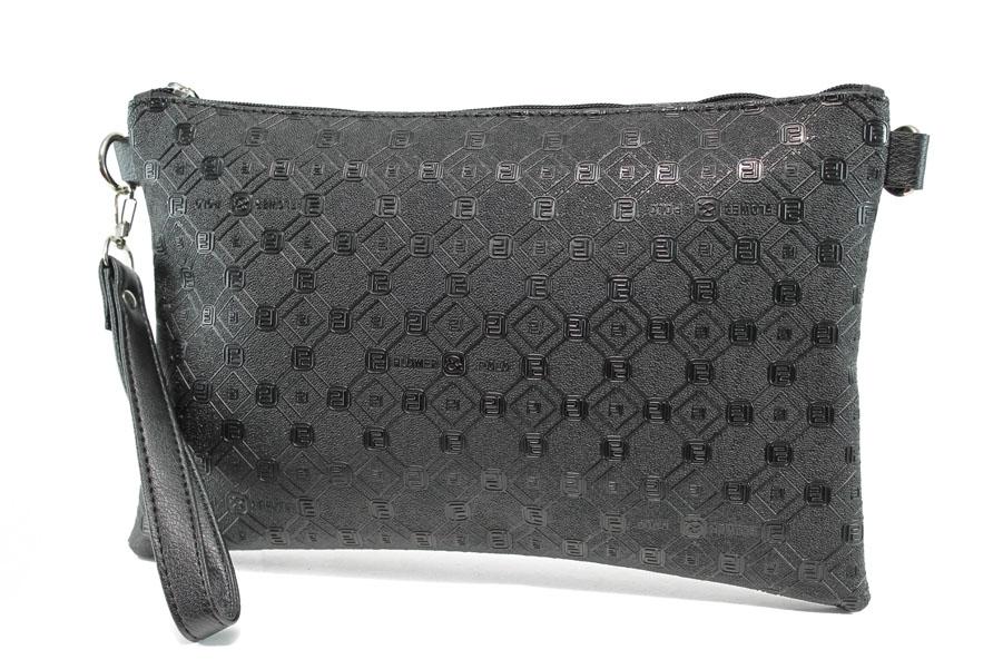 Дамска чанта - висококачествена еко-кожа - черни - EO-9994