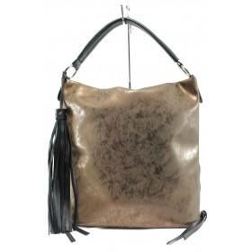 Дамска чанта - висококачествена еко-кожа - кафяви - EO-10116