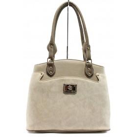 Дамска чанта - висококачествена еко-кожа - бежови - EO-10117