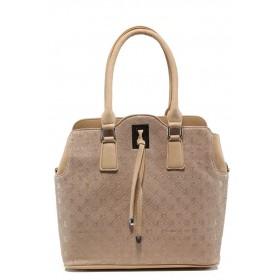 Дамска чанта - висококачествена еко-кожа - розови - EO-10855