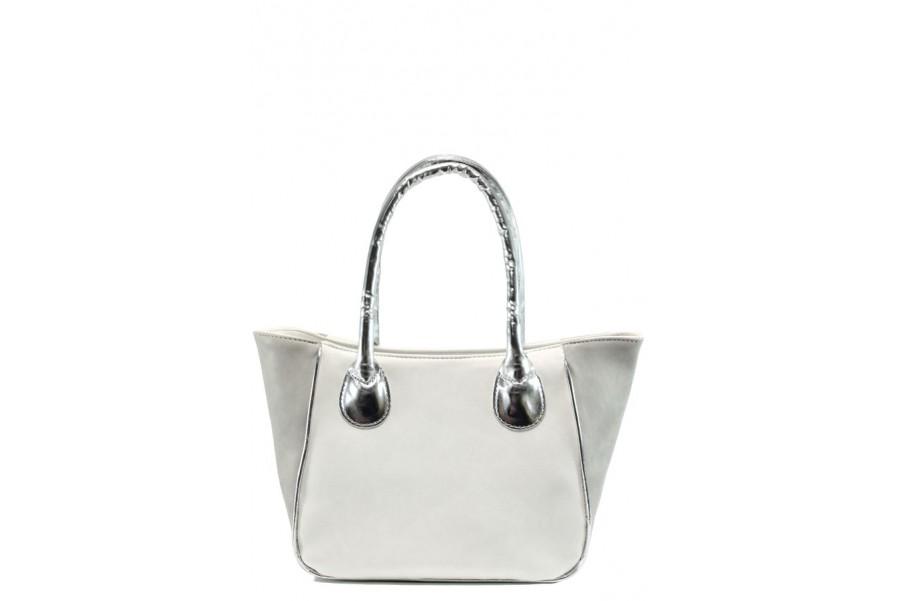Дамска чанта - висококачествена еко-кожа - бели - EO-10858