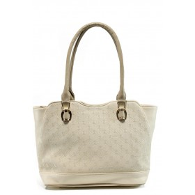 Дамска чанта - висококачествена еко-кожа - бежови - EO-10866