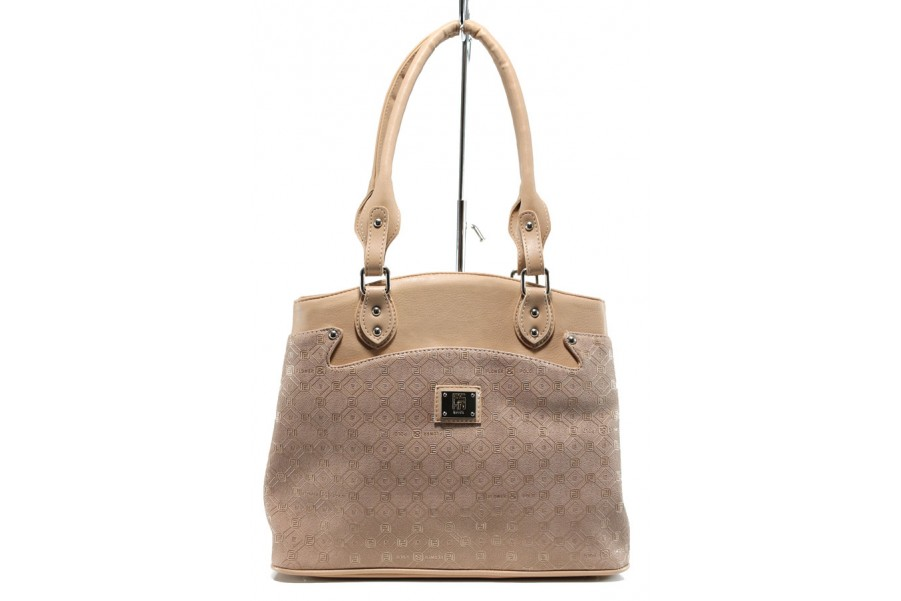 Дамска чанта - висококачествена еко-кожа - розови - EO-10875