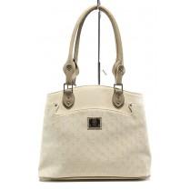 Дамска чанта - висококачествена еко-кожа - бежови - EO-10876
