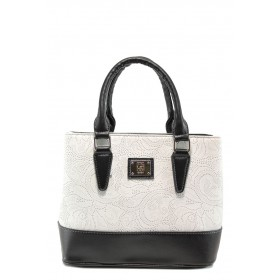 Дамска чанта - висококачествена еко-кожа - бели - EO-10863