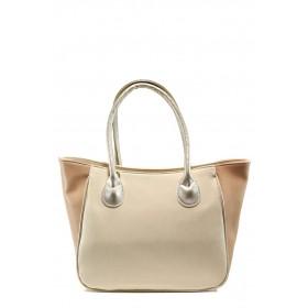 Дамска чанта - висококачествена еко-кожа - бежови - EO-10860
