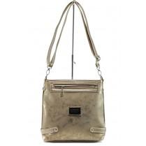 Дамска чанта - висококачествена еко-кожа - жълти - EO-10878