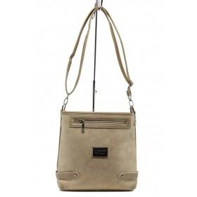 Дамска чанта - висококачествена еко-кожа - бежови - EO-10877