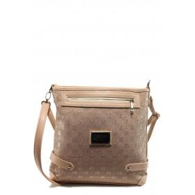 Дамска чанта - висококачествена еко-кожа - розови - EO-10879