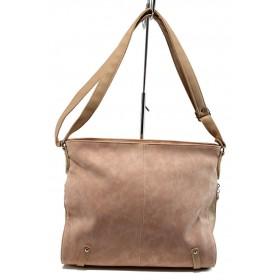 Дамска чанта - висококачествена еко-кожа - розови - EO-10874