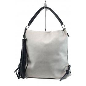 Дамска чанта - висококачествена еко-кожа - сиви - EO-10869