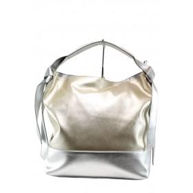 Дамска чанта - висококачествена еко-кожа - жълти - EO-10868