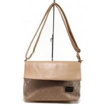 Дамска чанта - висококачествена еко-кожа - розови - EO-11057