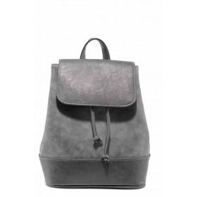 Раница - висококачествена еко-кожа - сиви - EO-11625