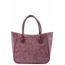 Дамска чанта - висококачествена еко-кожа - бордо - EO-11982