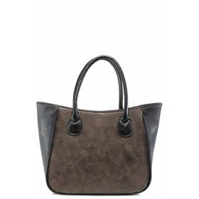 Дамска чанта - висококачествена еко-кожа - кафяви - EO-11983