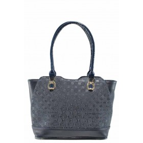 Дамска чанта - висококачествена еко-кожа - сини - EO-11989