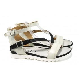Дамски сандали - естествена кожа - бели - EO-10548