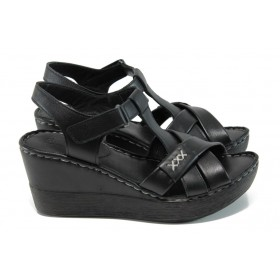 Дамски сандали - естествена кожа - червени - EO-10839