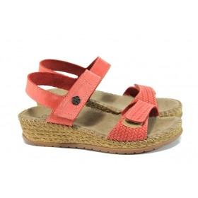 Дамски сандали - естествена кожа - розови - EO-10902