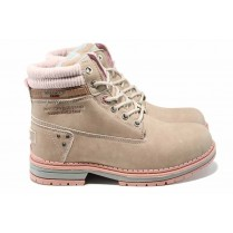 Дамски боти - висококачествена еко-кожа - розови - EO-11671