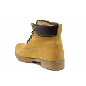 Юношески боти - естествен набук - жълти - EO-11685