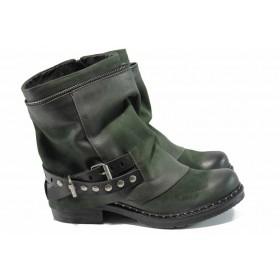 Дамски боти - естествена кожа - зелени - EO-11789