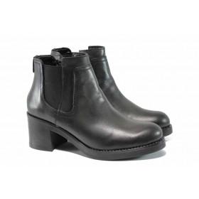 Дамски боти - естествена кожа - сиви - EO-11847