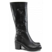 Дамски ботуши - естествена кожа - черни - EO-11881