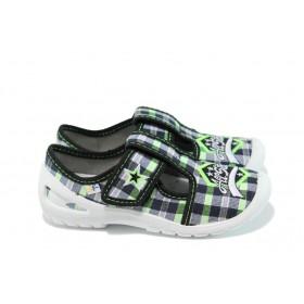 Детски обувки - висококачествен текстилен материал - зелени - EO-9900