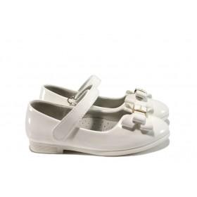 Детски обувки - еко кожа-лак - бели - EO-10379