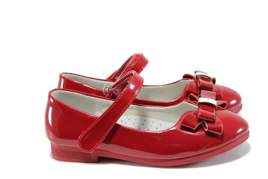 Детски обувки - еко кожа-лак - червени - EO-10378