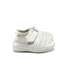 Детски обувки - висококачествена еко-кожа - бели - EO-10380