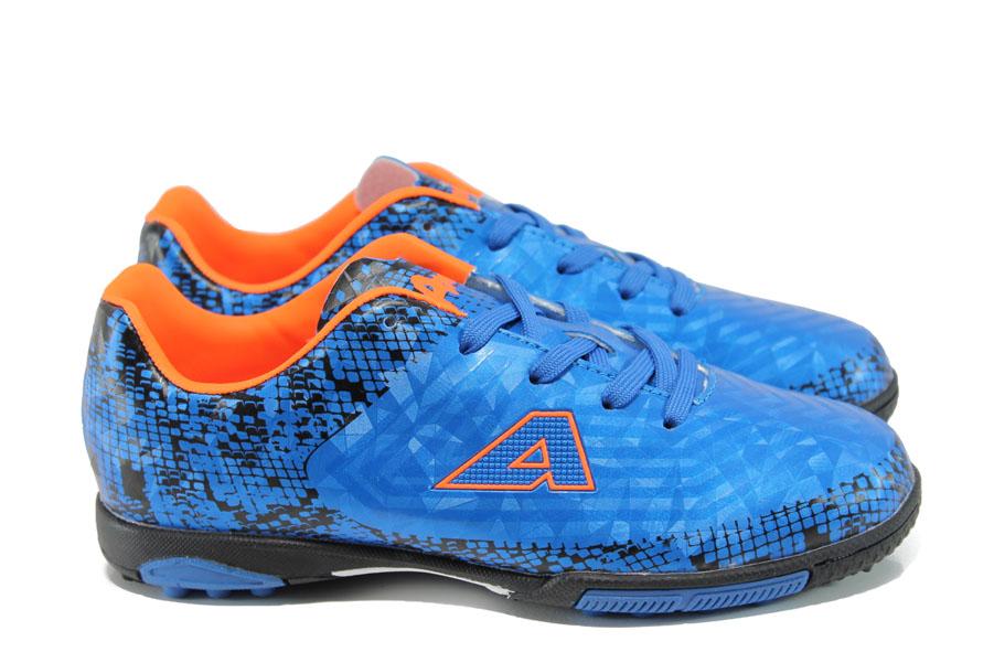 Детски маратонки - висококачествена еко-кожа - сини - EO-10407