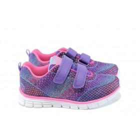 Детски маратонки - висококачествен текстилен материал - лилави - EO-10409