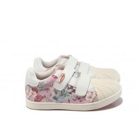 Детски обувки - висококачествена еко-кожа - бели - EO-10431