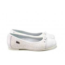 Детски обувки - висококачествена еко-кожа - бели - EO-10473