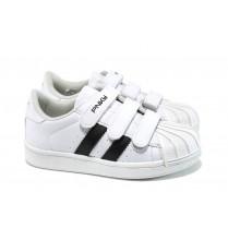 Детски обувки - висококачествена еко-кожа - бели - EO-10566