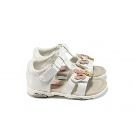 Детски сандали - висококачествена еко-кожа - бели - EO-10846