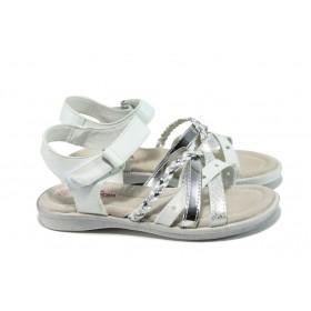 Детски сандали - висококачествена еко-кожа - бели - EO-10851