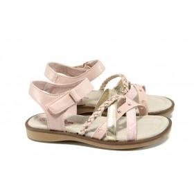 Детски сандали - висококачествена еко-кожа - розови - EO-10852