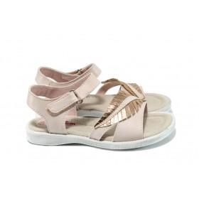 Детски сандали - висококачествена еко-кожа - розови - EO-10853
